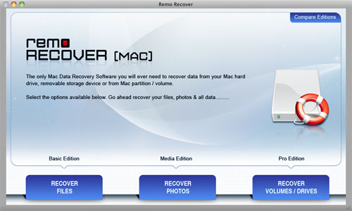 Recover Flash Drive on Mac - Welcome Screen